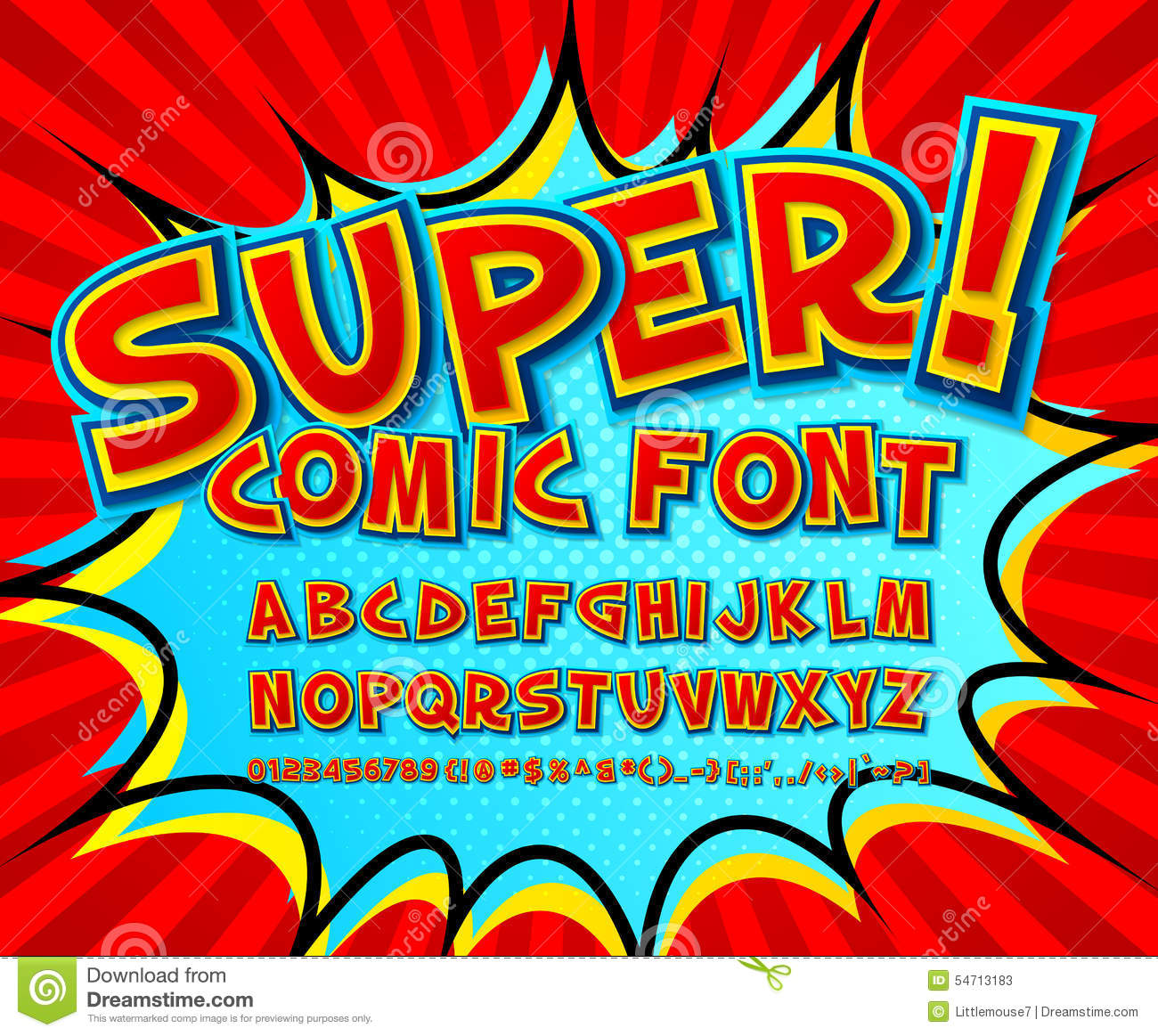 Amato Creative Comic Font. Vector Alphabet In Style Pop Art Stock Vector  AM55