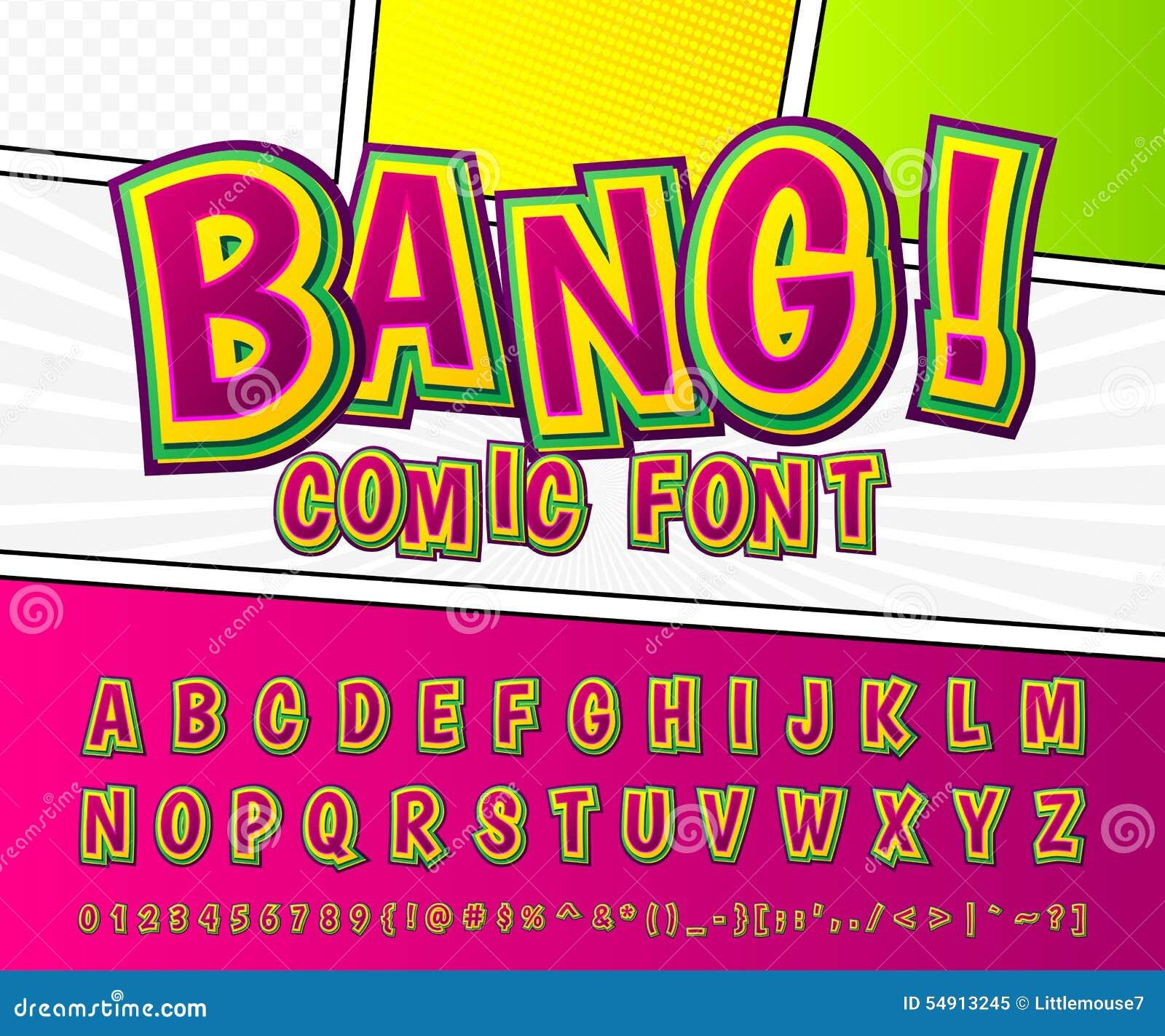 Creative Comic Font. Vector Alphabet In Style Pop Art Stock Vector ...