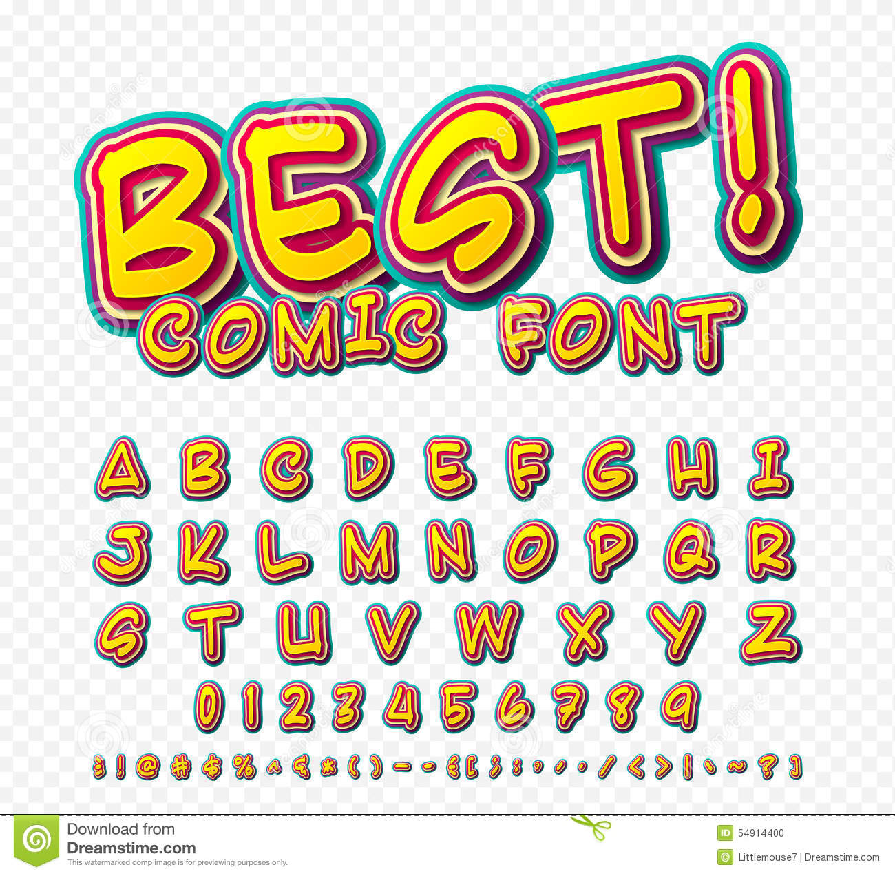 Famoso Creative Comic Font. Vector Alphabet In Style Pop Art Stock Vector  GO78