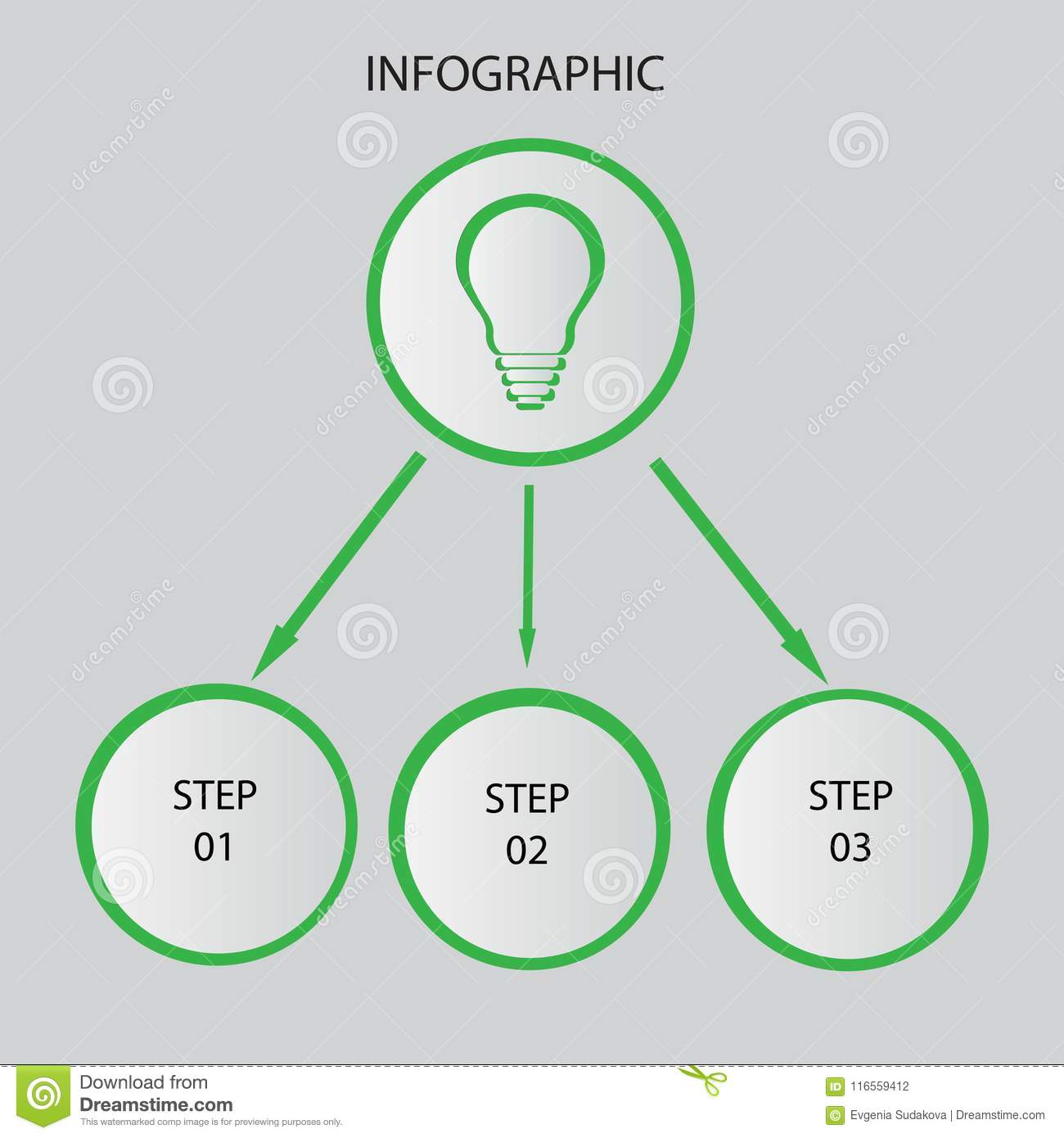 Creative Concept For Dark Infographic. Business Data Visualization ...