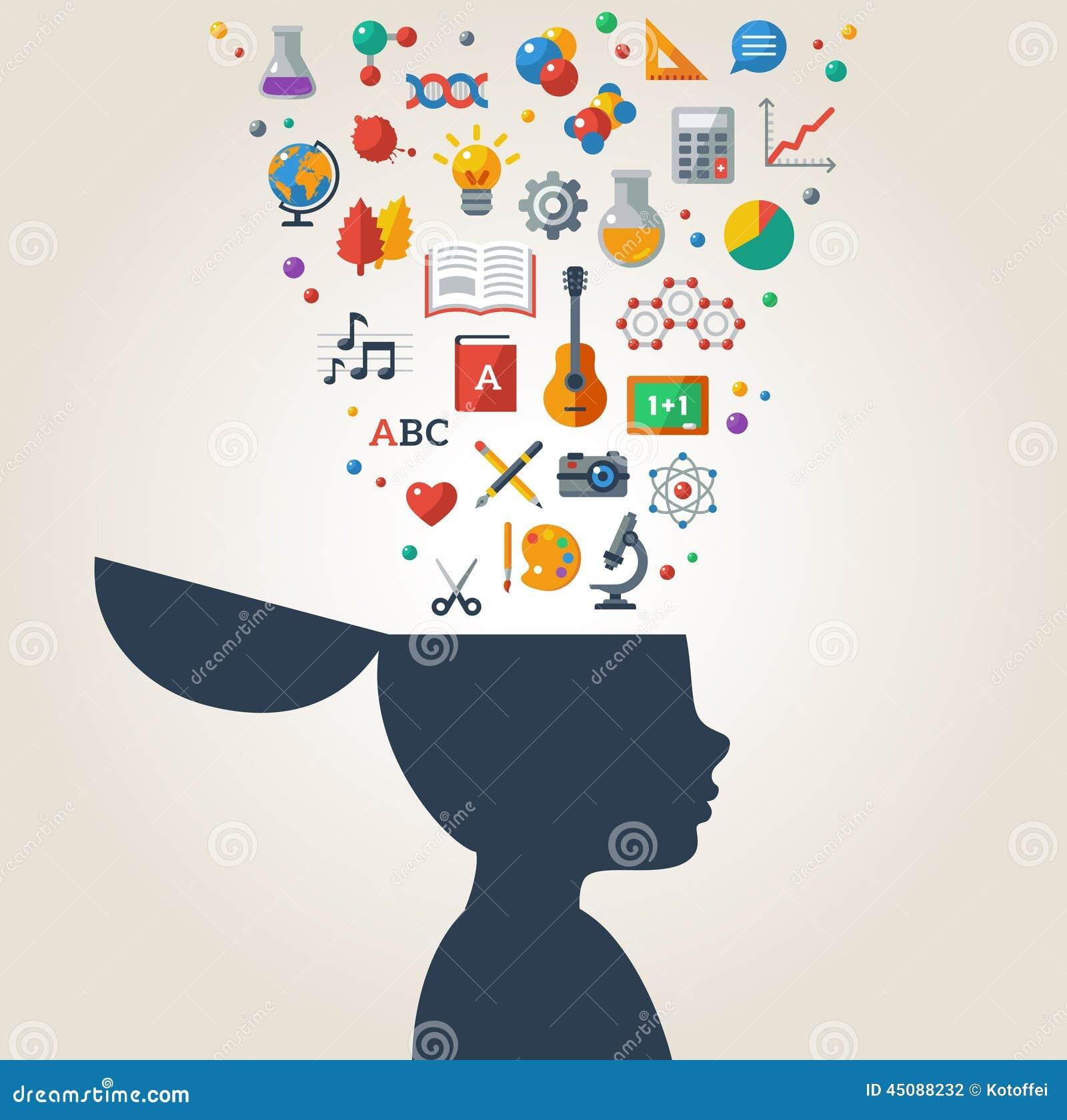 Creative Concept Of Education  Stock Vector
