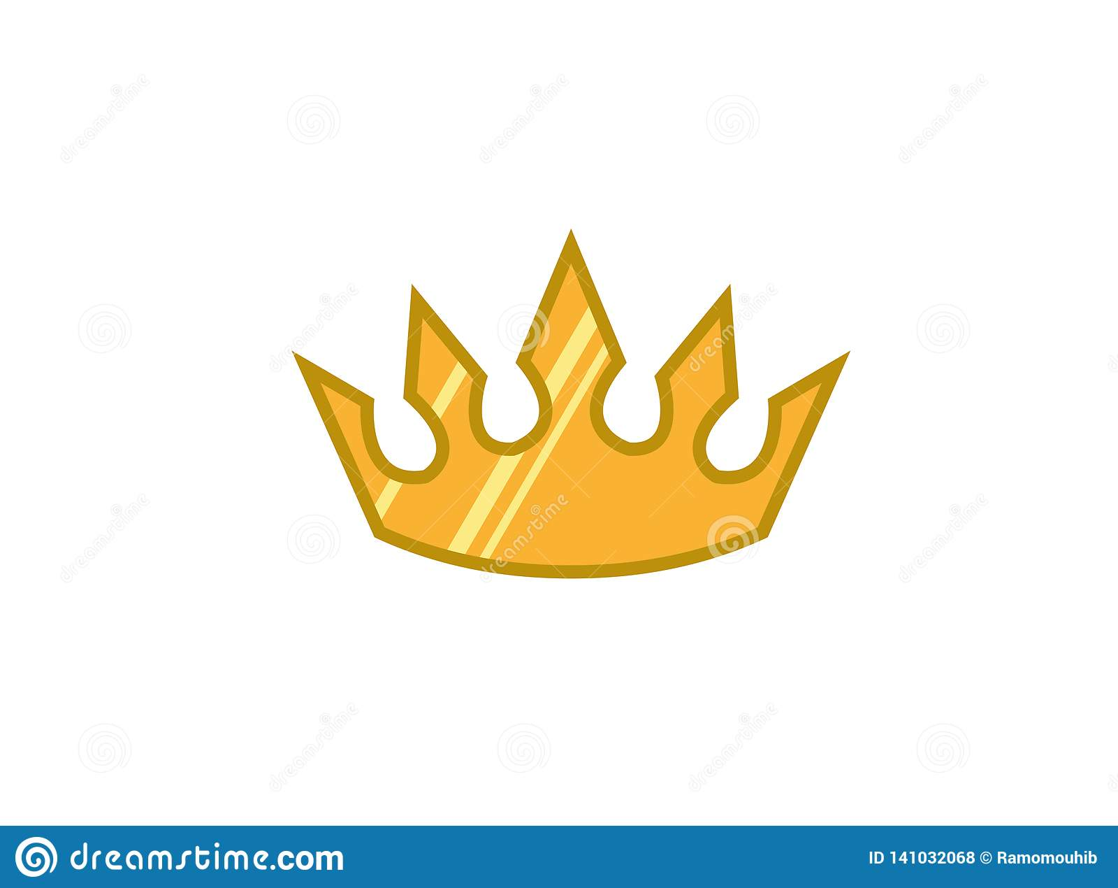 Creative yellow crown for logo design illustration