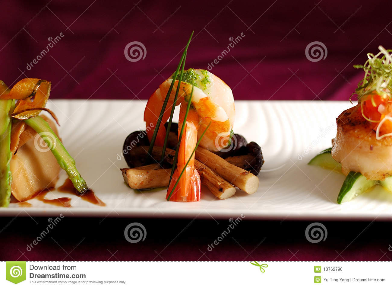 Creative cuisine appetizer scallops seafood royalty free for Creation cuisine