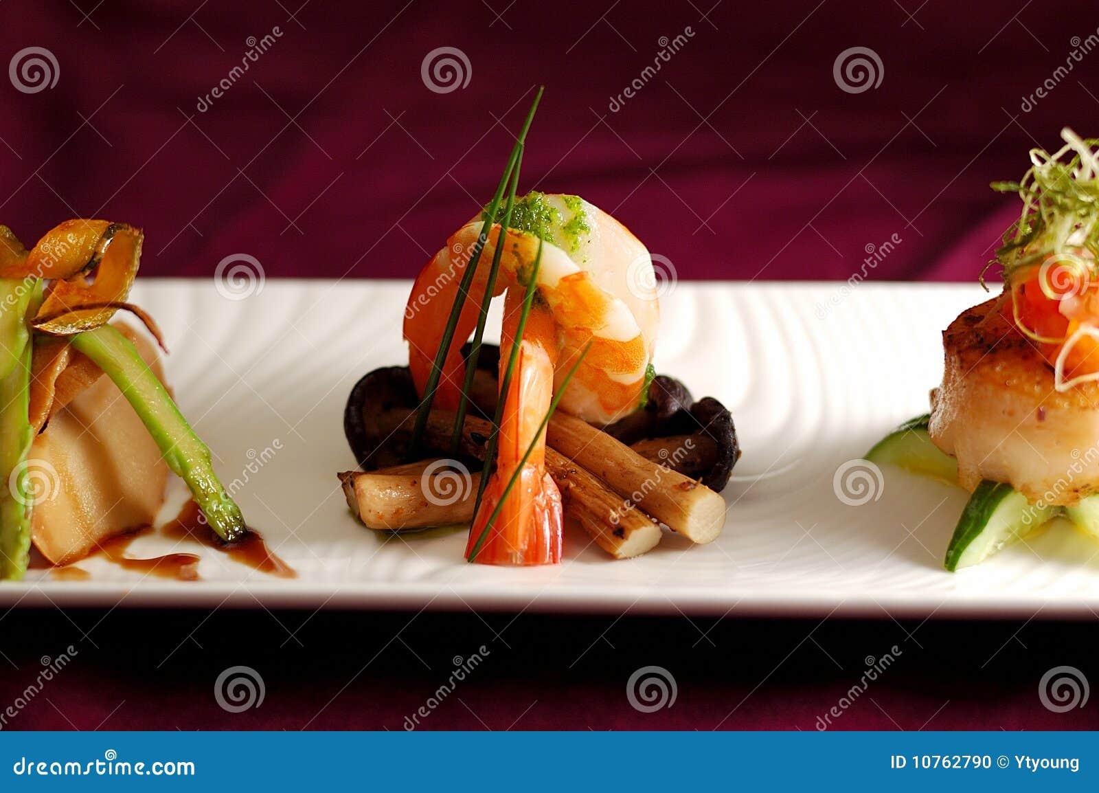 Creative cuisine appetizer shrimp seafood stock photo for Creation cuisine