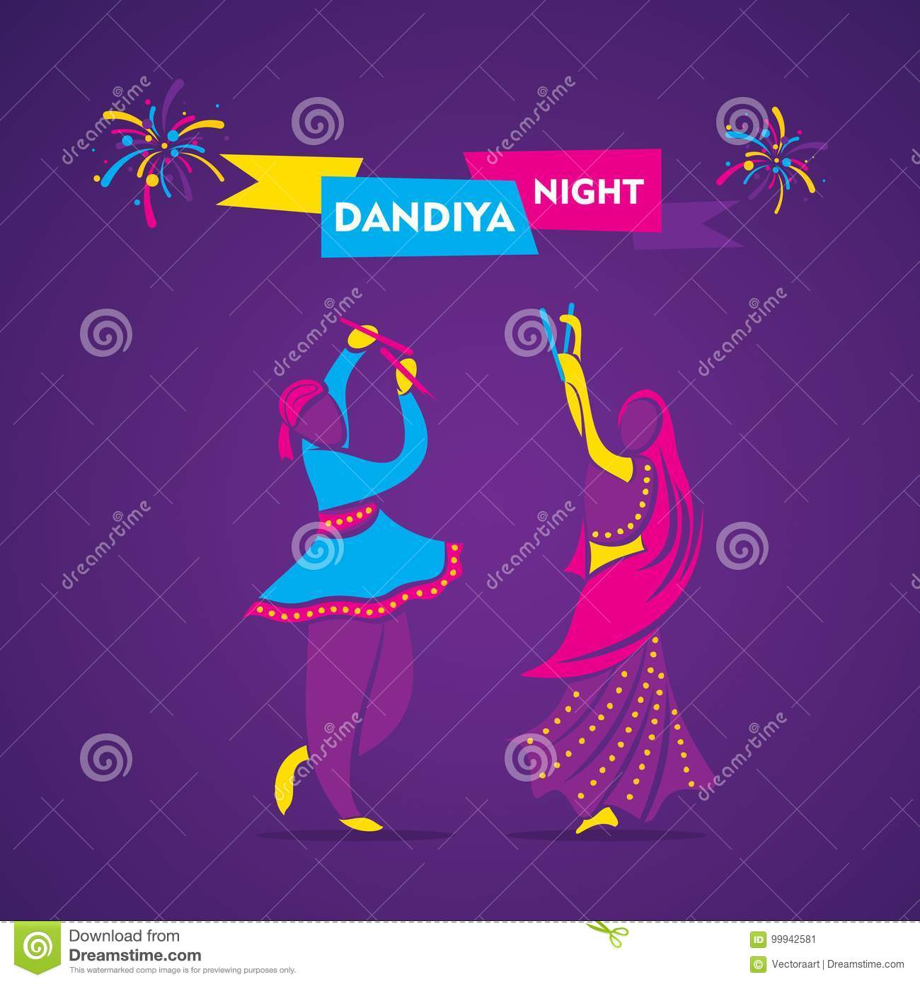 Dandiya Night Poster Design Stock Vector Illustration Of Design Abstract 99942581