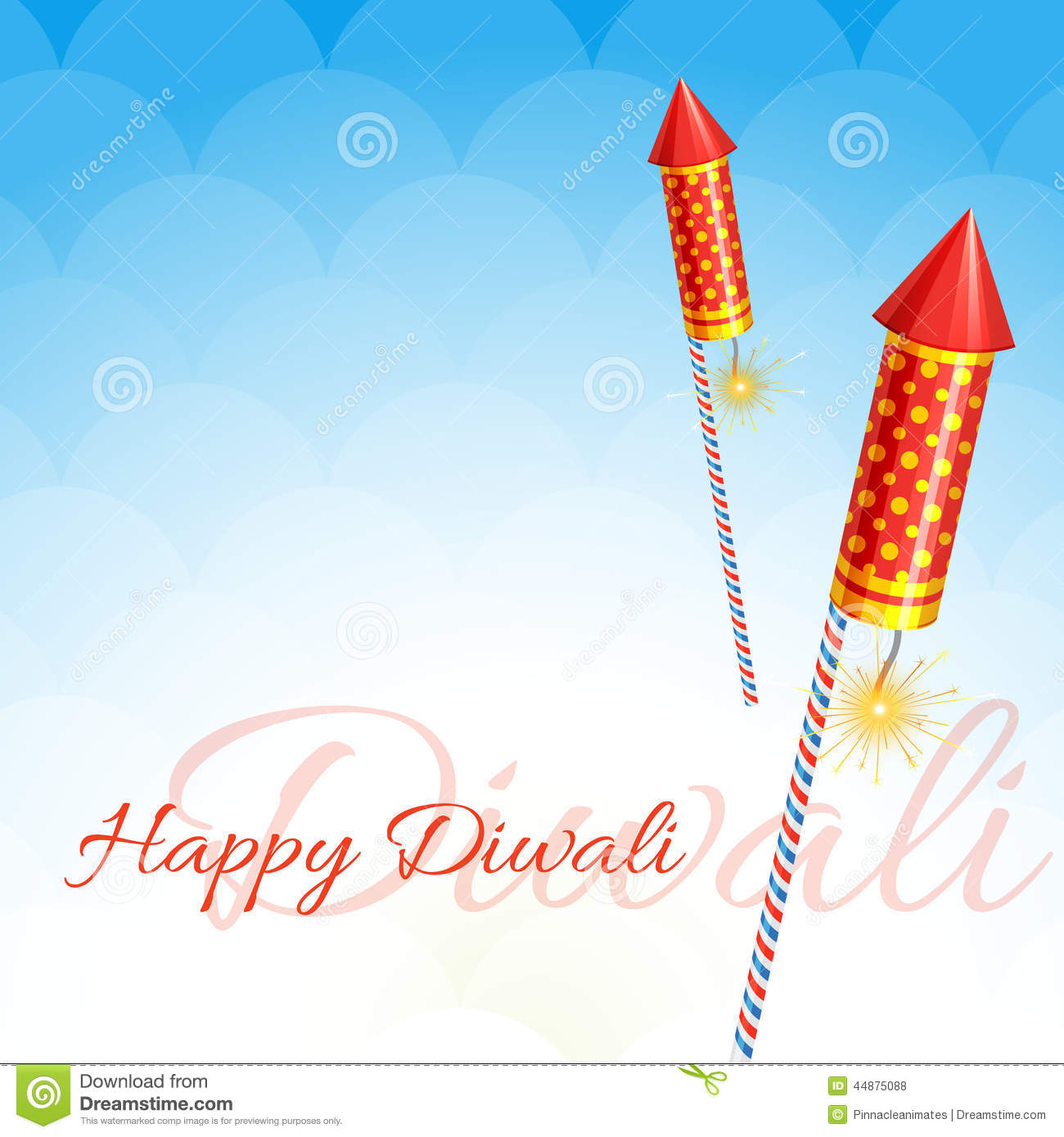Creative design of diwali