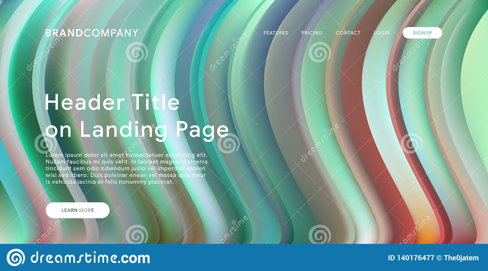Creative design with fluid colorful shapes. Trendy color gradients. Strip design. Fluid shapes composition. Futuristic design.