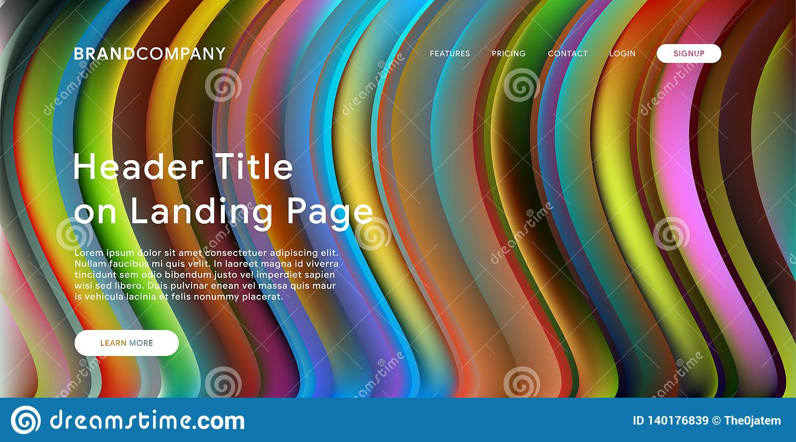 Creative design with fluid colorful shapes. Trendy color gradients. Strip design. Fluid shapes composition. Futuristic design.