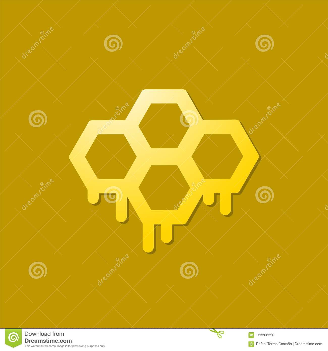 Honey hive icon stock vector  Illustration of pattern - 123308350