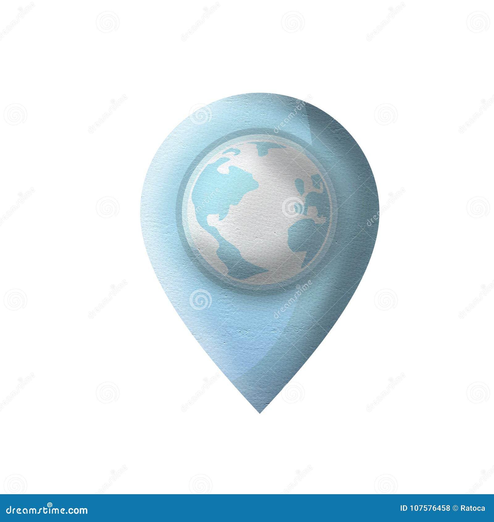 Nice blue location icon stock illustration  Illustration of