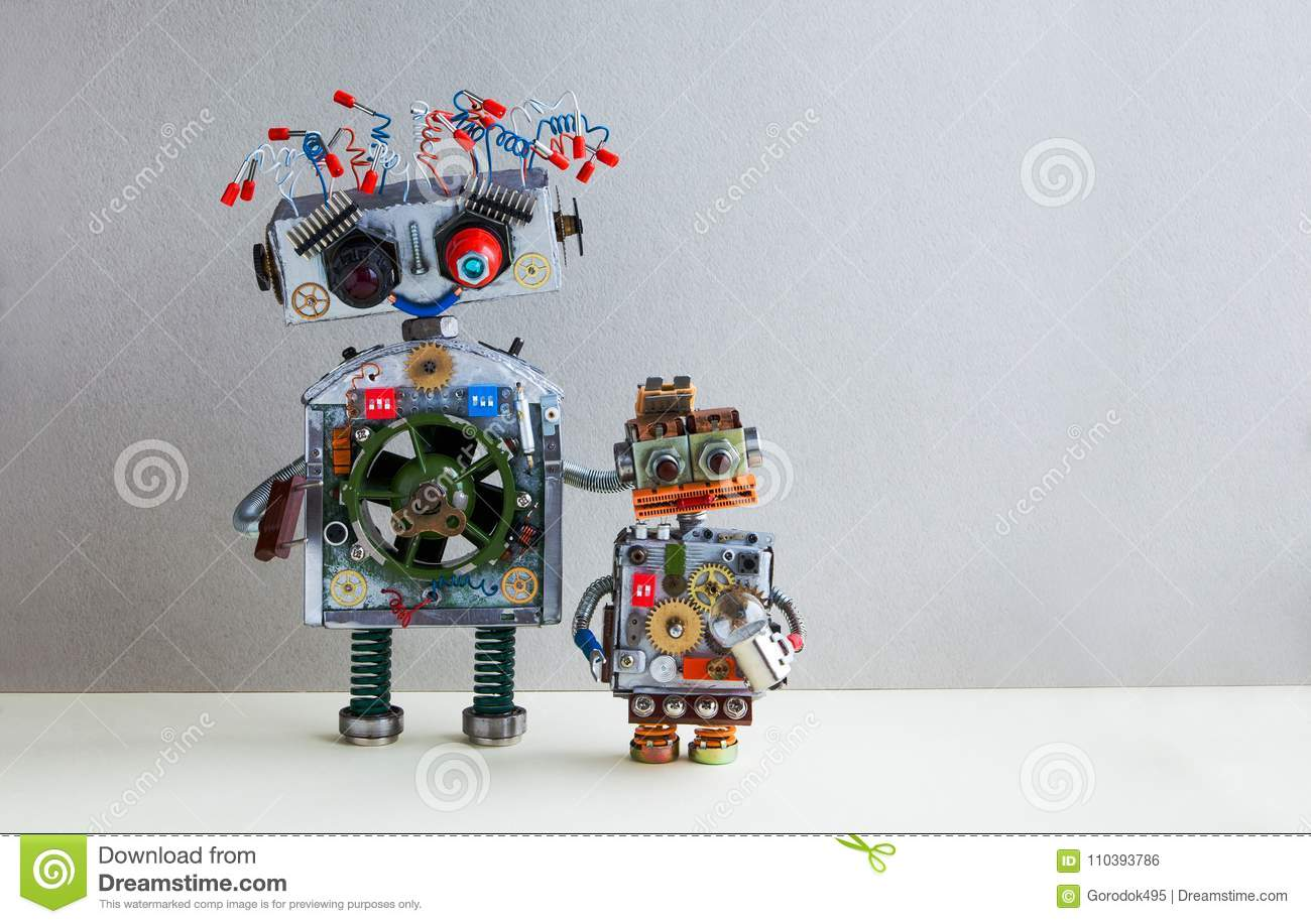 Robotic Family Big Robot Electrical Wire Hairstyle Plug Arm Small Wiring A For Lamp Kid Cyborg With