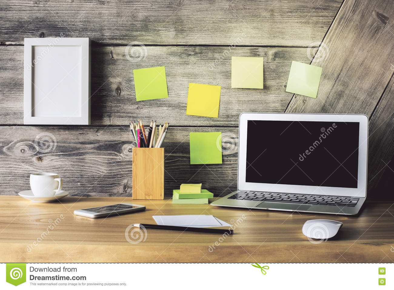 Creative desktop stock photo  Image of device, banner - 73857966