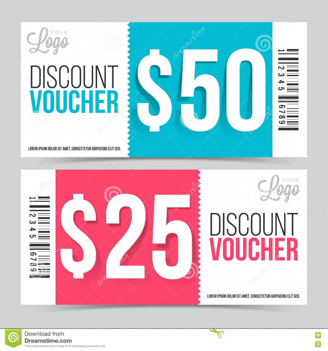 Creative Discount Voucher Or Coupon Design. Royalty Free Illustration  Free Discount Vouchers