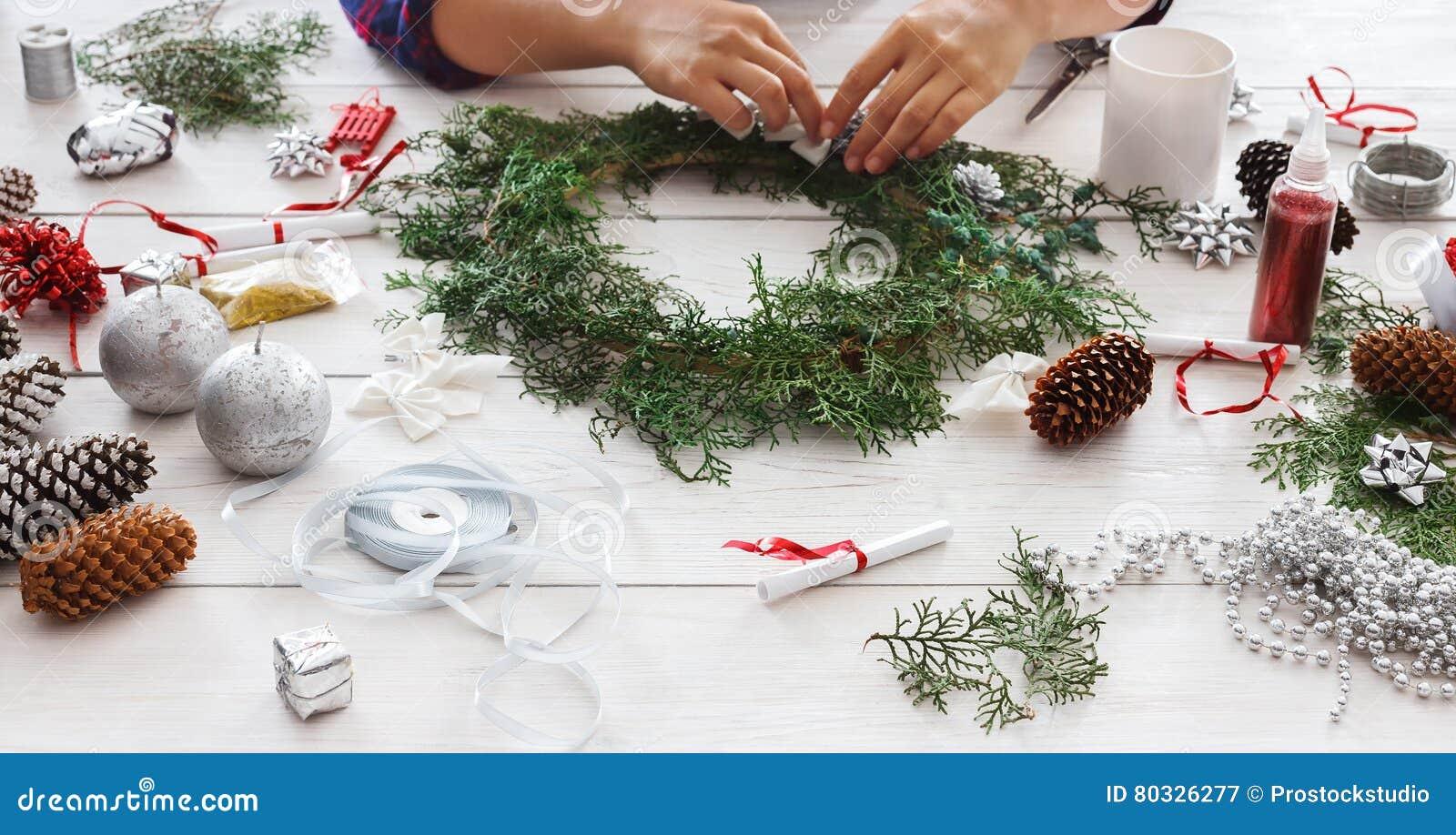handmade craft christmas decoration ornament and garland