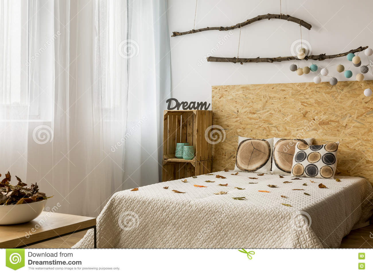 creative diy home decor in eco style stock image image of