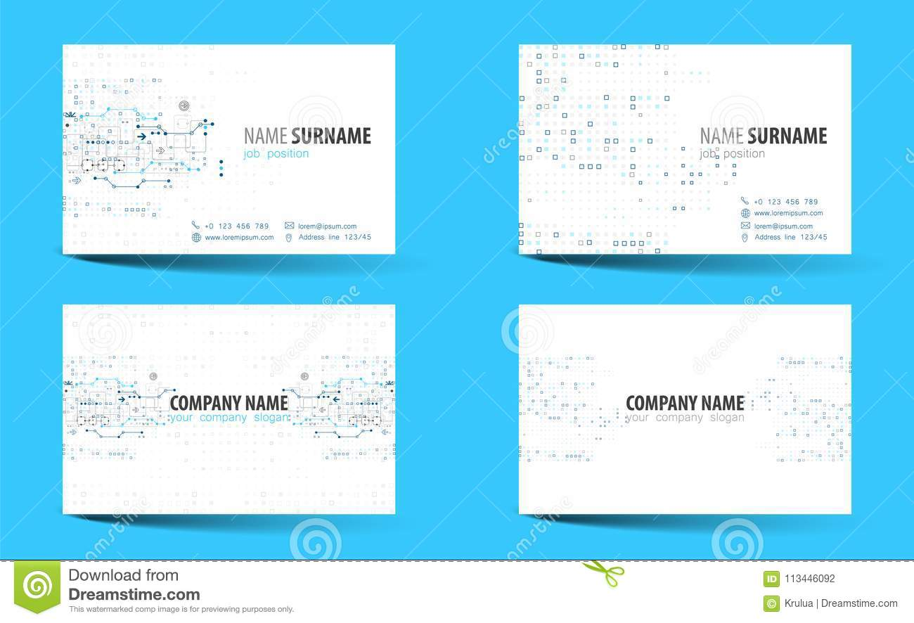 Creative Double Sided Business Card Template Stock Vector