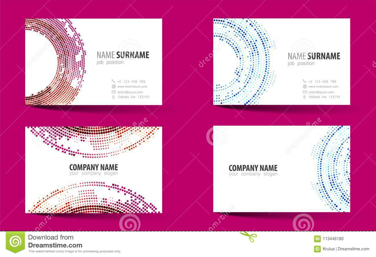 Creative double sided business card template stock vector download creative double sided business card template stock vector illustration of corporate wajeb Choice Image