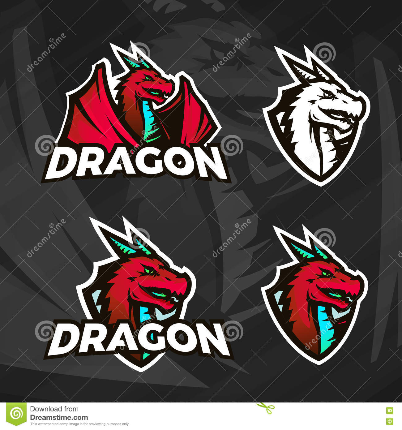 Dragon Logo Stock Photos, Images, & Pictures - 97 Images