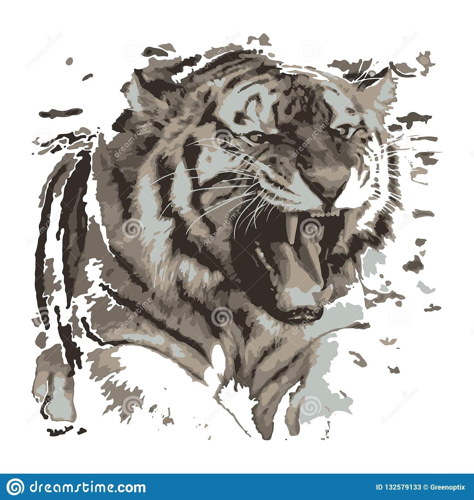Creative drawing tiger