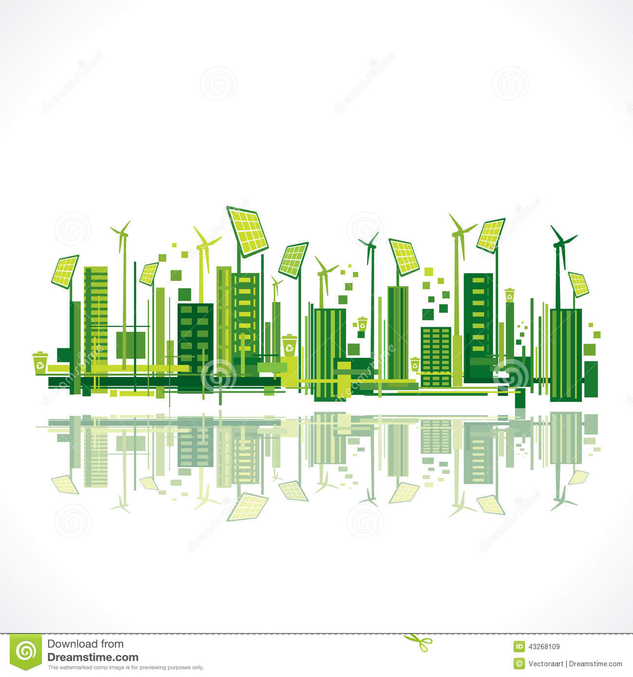 Creative Eco Friendly City Design Background Stock Vector