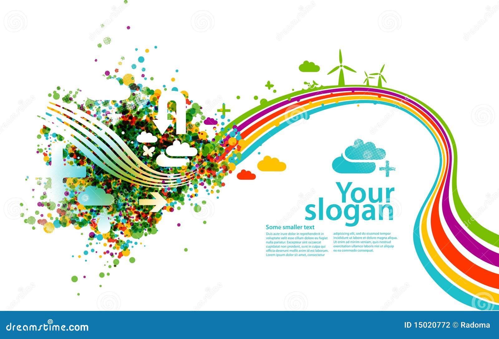 Creative Eco Illustration Stock Photography