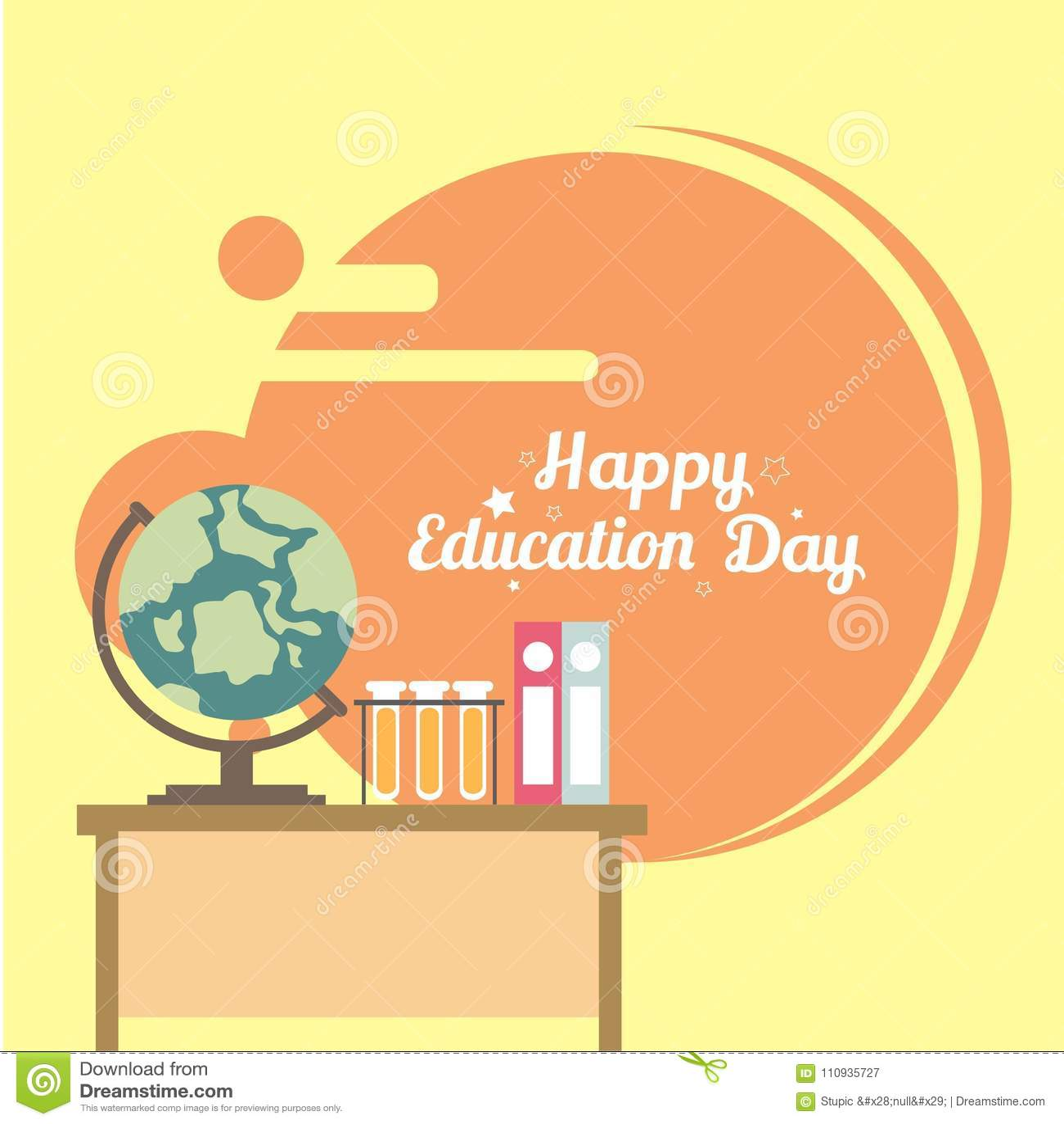 creative education day illustration design vector art logo