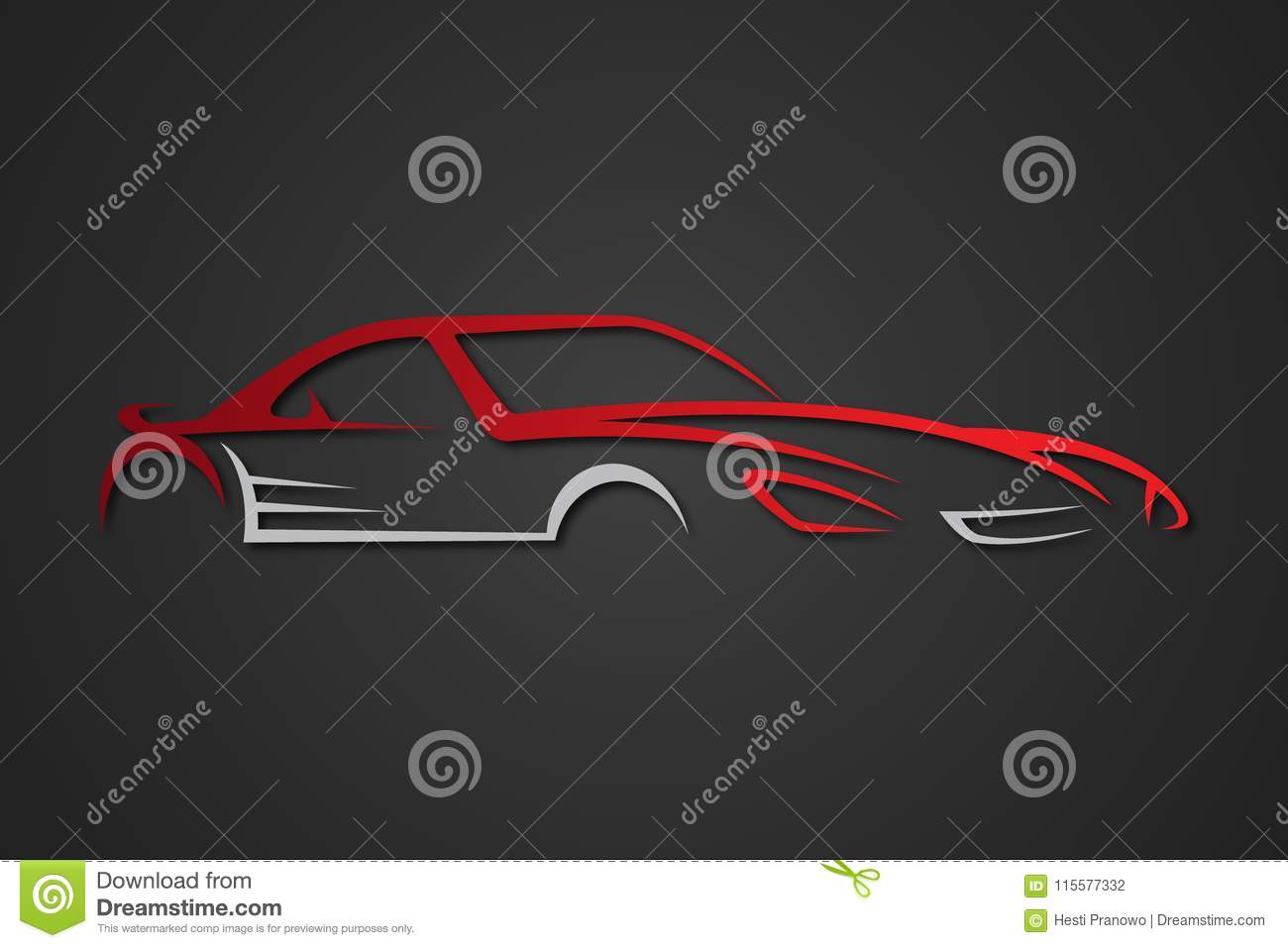 Creative Elegant Car Emblems For Your Business Stock Vector
