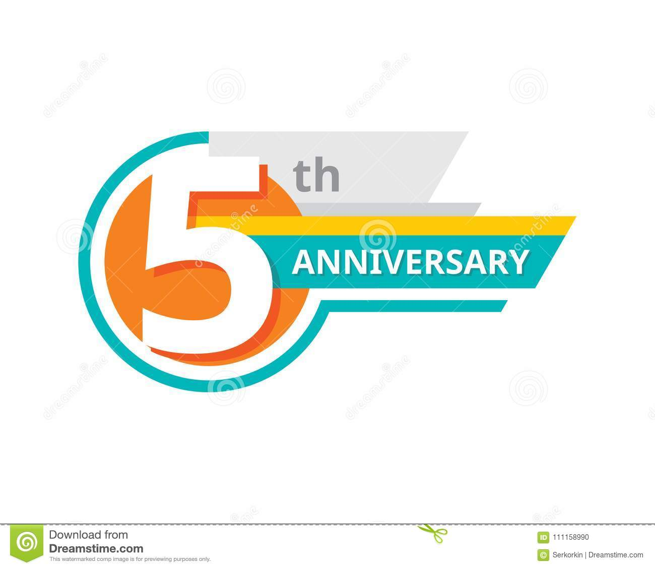Creative emblem 5 th years anniversary five template logo badge creative emblem 5 th years anniversary five template logo badge design element abstract geometric banner on white background biocorpaavc Gallery