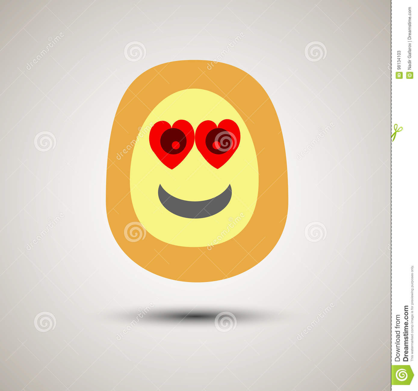 Creative Emoji Smiley Face In Love  Stock Vector - Illustration of