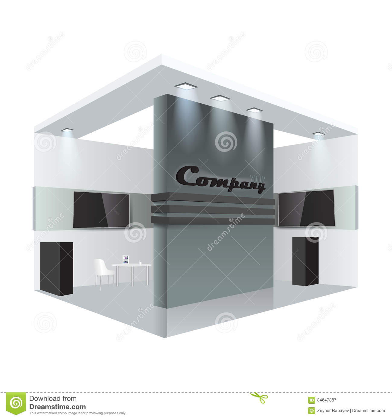 Exhibition Stand Or Booth : Creative exhibition stand design booth template corporate
