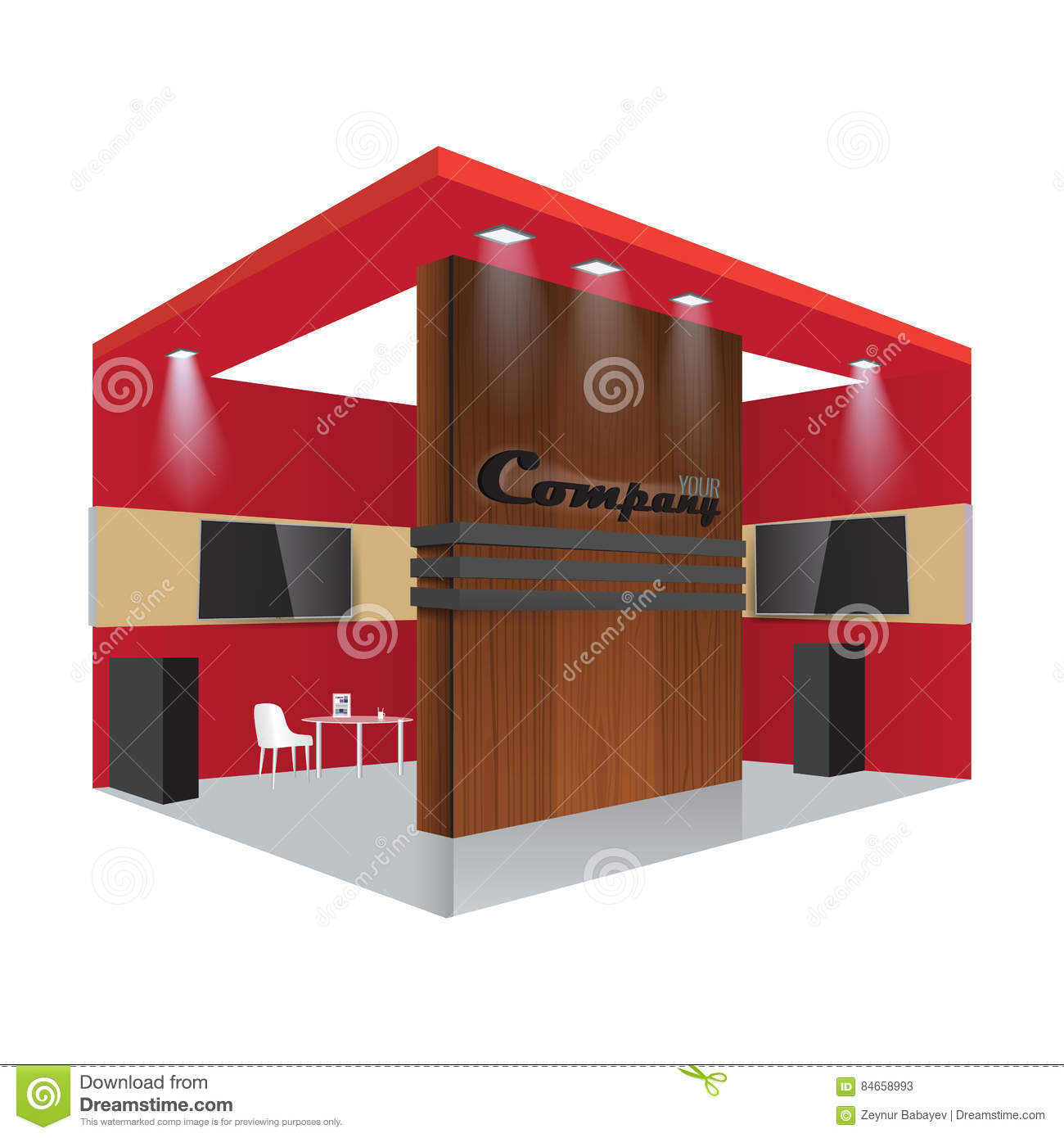 Download Free Mock Up Exhibition Stand : Creative exhibition stand design booth template