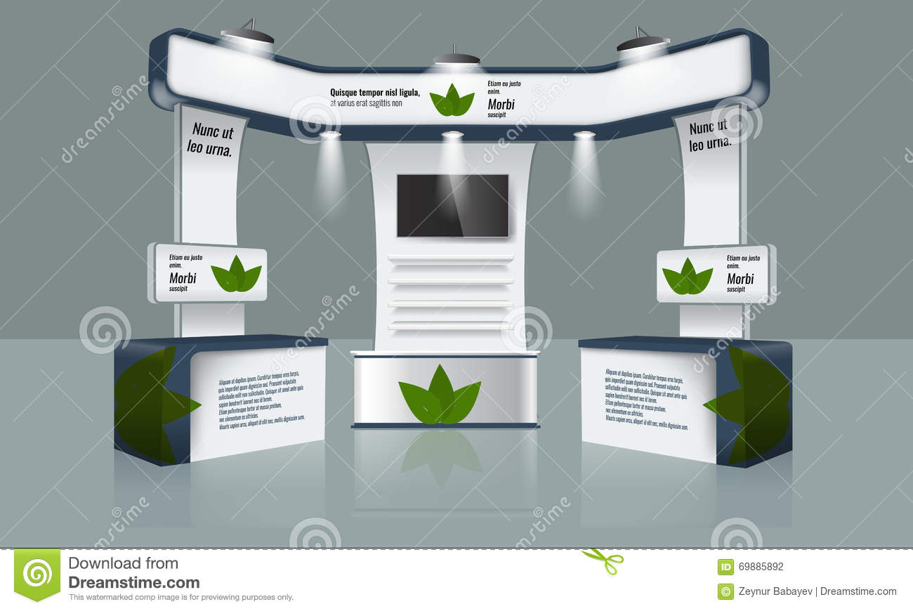 Exhibition Booth Vector Free Download : Booth exhibition royalty free stock image cartoondealer
