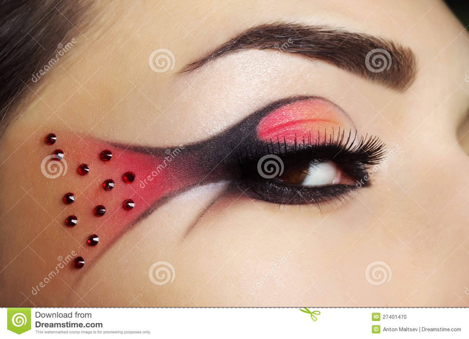 creative eye make-up stock photo. image of beautiful - 27401470