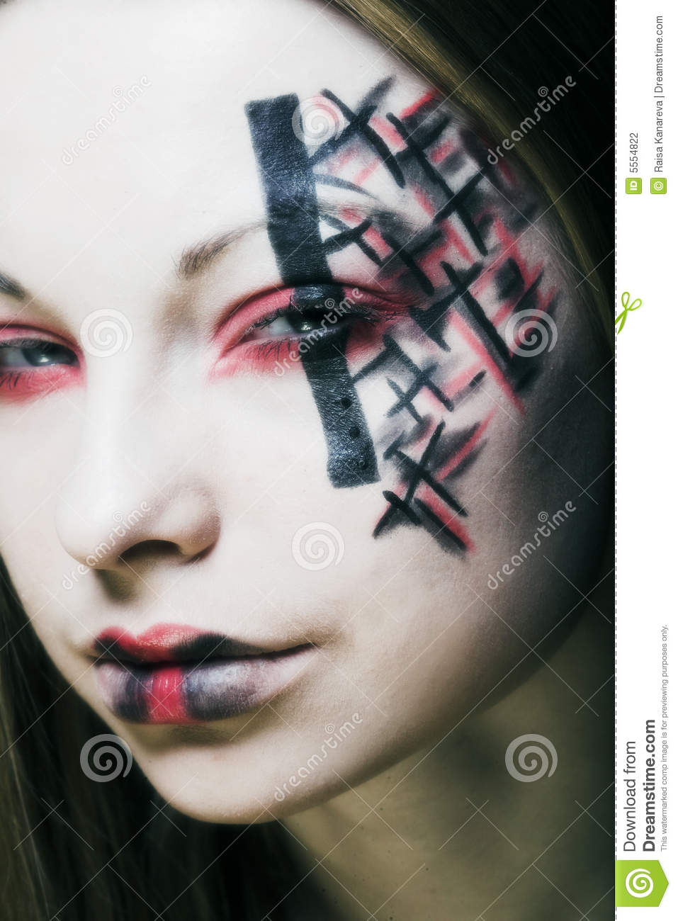 Creative Face Paint Stock Photo Image Of Dream Hair