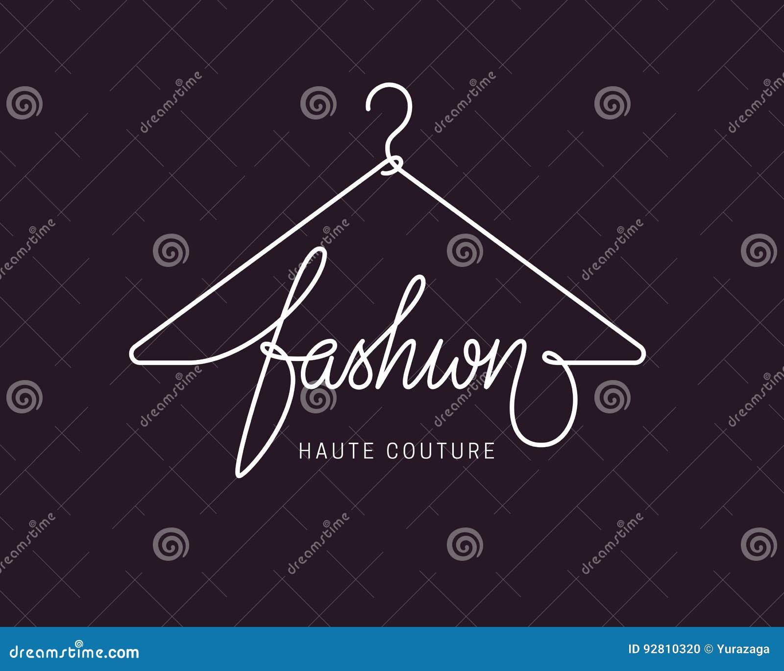 Creative Fashion Logo Design Stock Vector