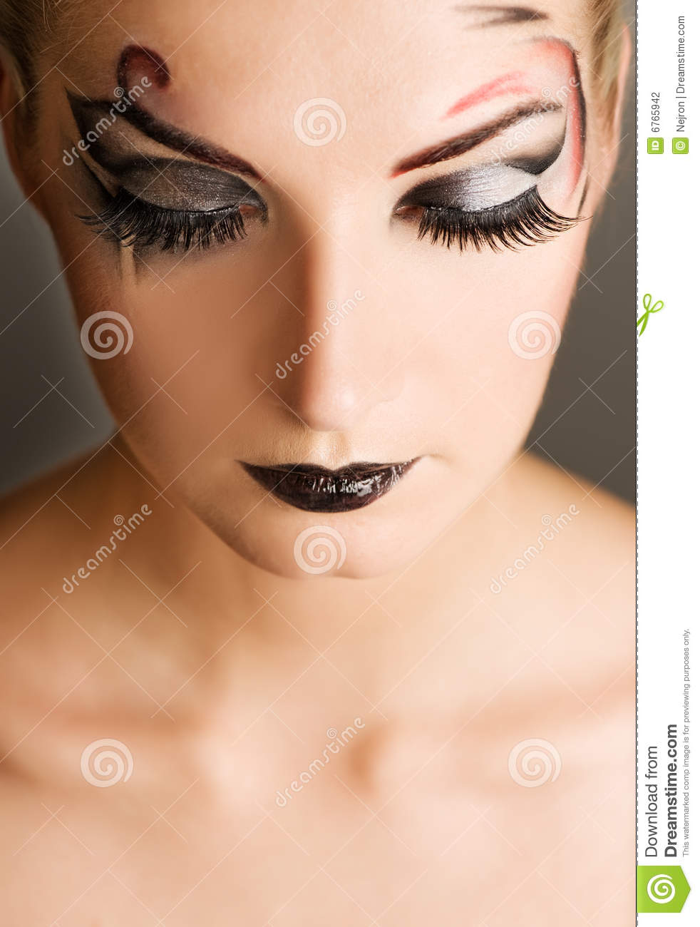 Creative Fashion Make Up Stock Photo Image Of Close