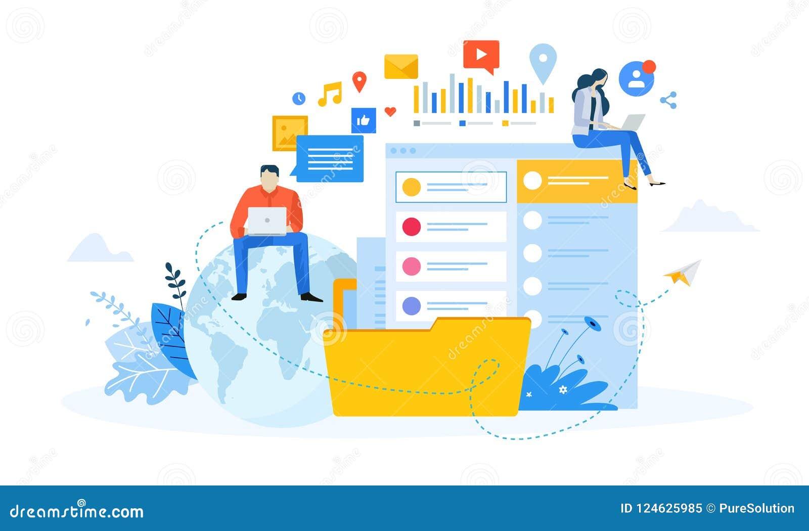 vector illustration concept of social media stock vector