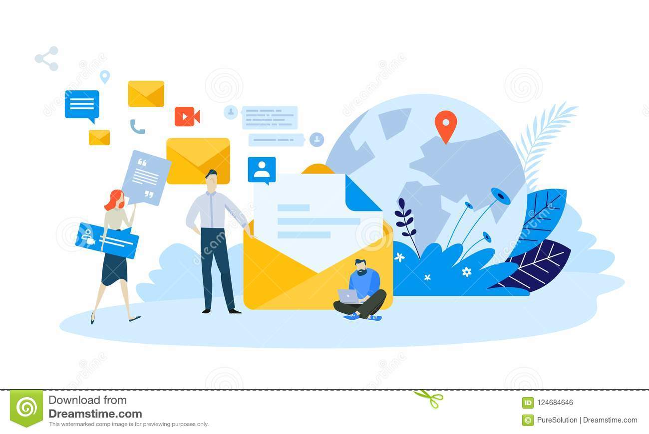 vector illustration concept of email marketing stock vector