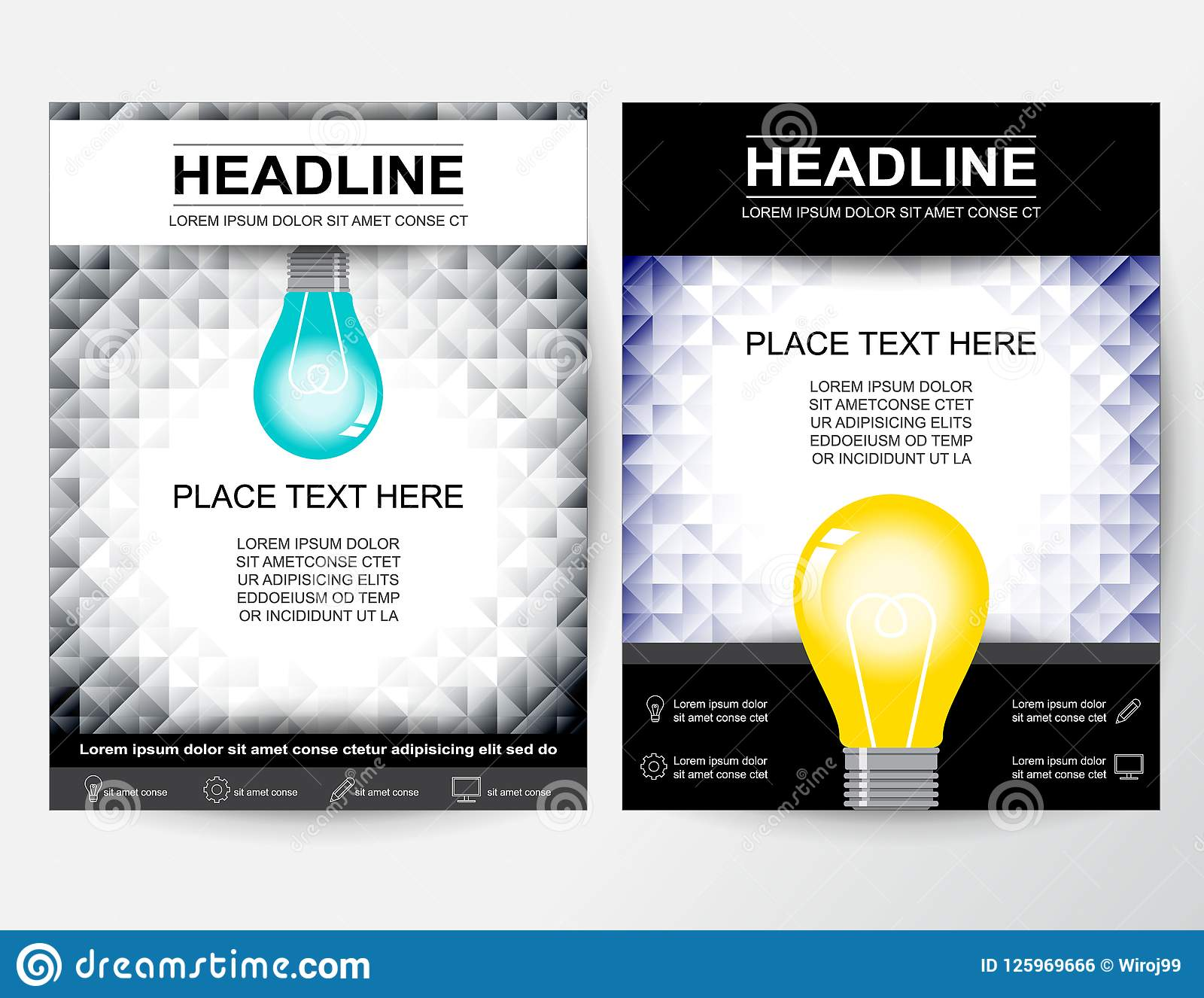 creative flyer poster banner pamphlet abstract design layout for business in a4 size