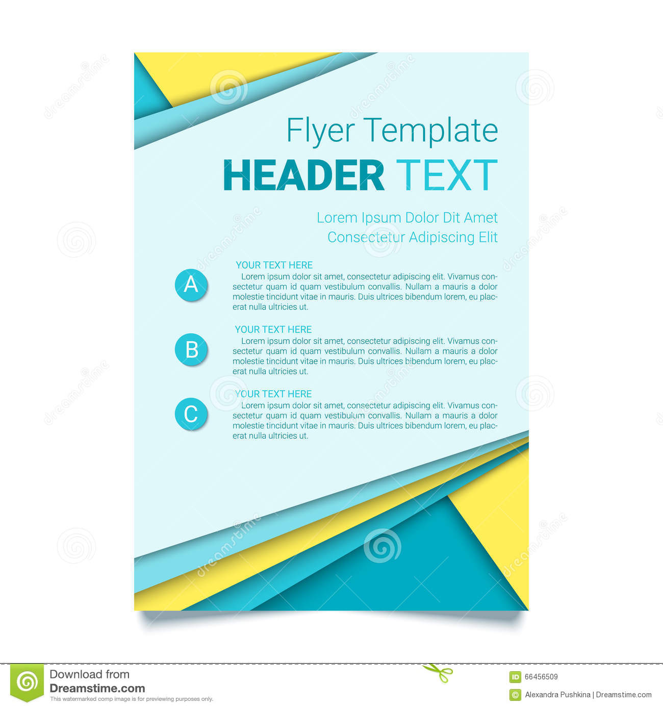 creative flyer template modern poster brochure business template in a material design style