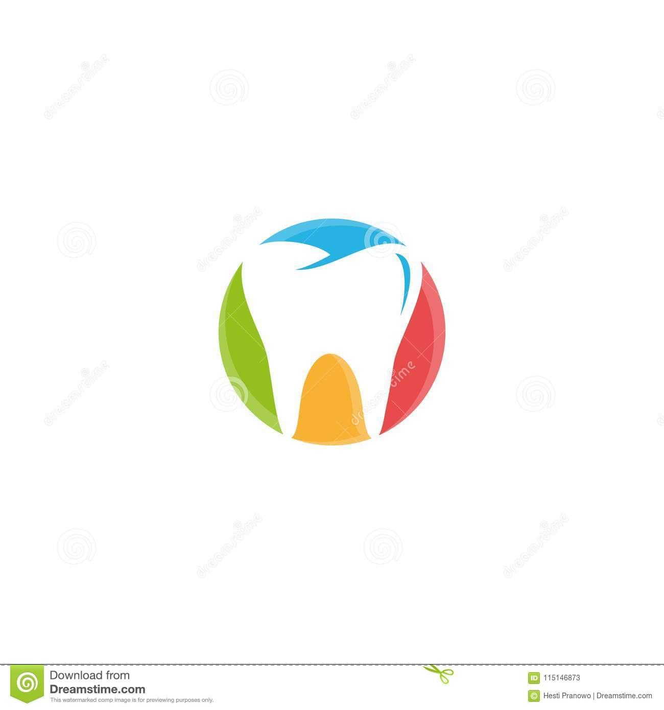 Creative, Fun And Colorful Illustration Dentistry Icon On