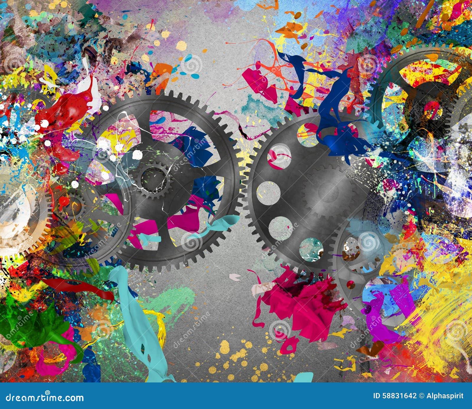 Creative Gear Stock Photo - Image: 58831642