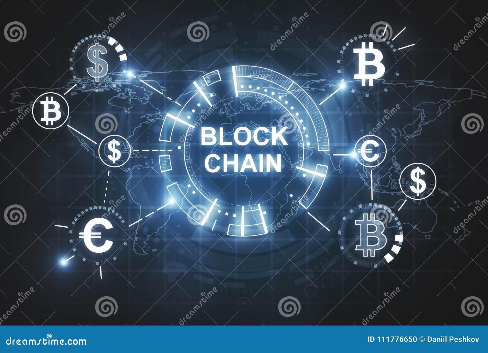 Creative blockchain background