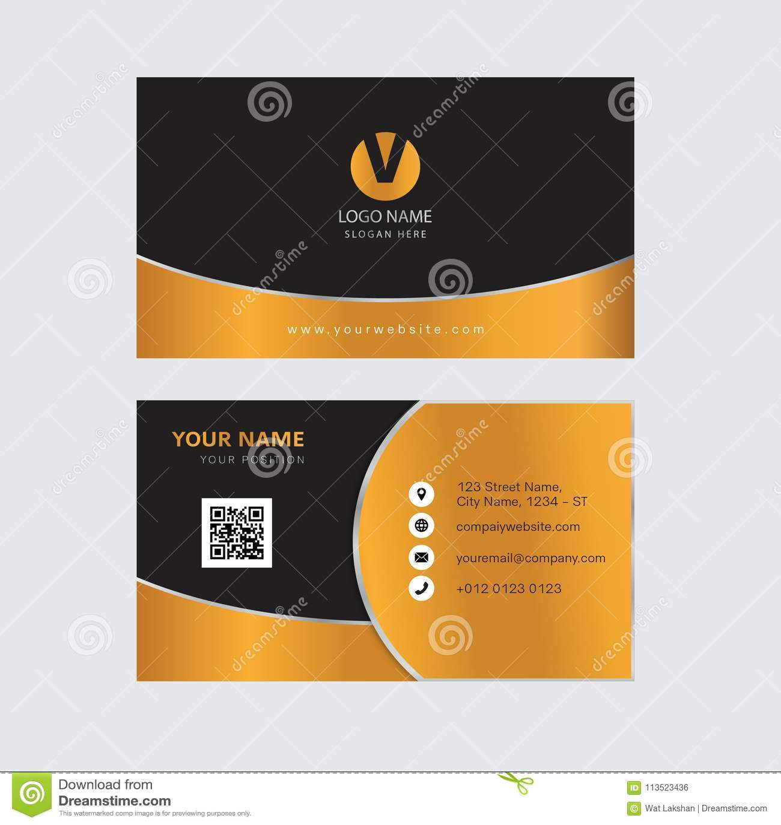 Creative gold color business card design stock vector illustration download creative gold color business card design stock vector illustration of illustration backdrop reheart Images