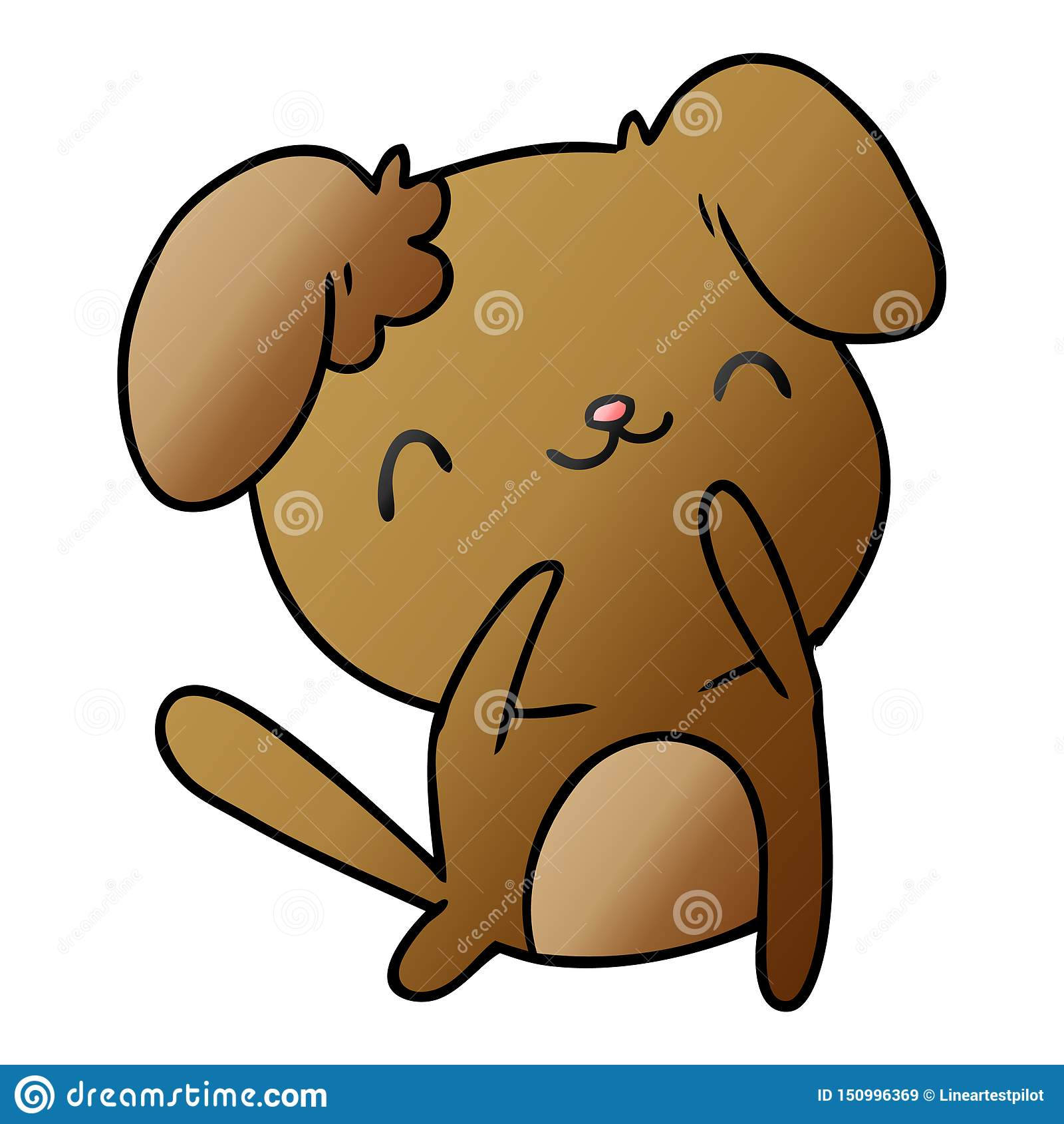 Gradient Cartoon Kawaii Cute Dog Pet Animal Furry Friend Puppy Art Illustration Drawing Doodle Quirky Freehand Drawn Free Hand Artwork Vector Stock Illustrations 5 Gradient Cartoon Kawaii Cute Dog Pet Animal