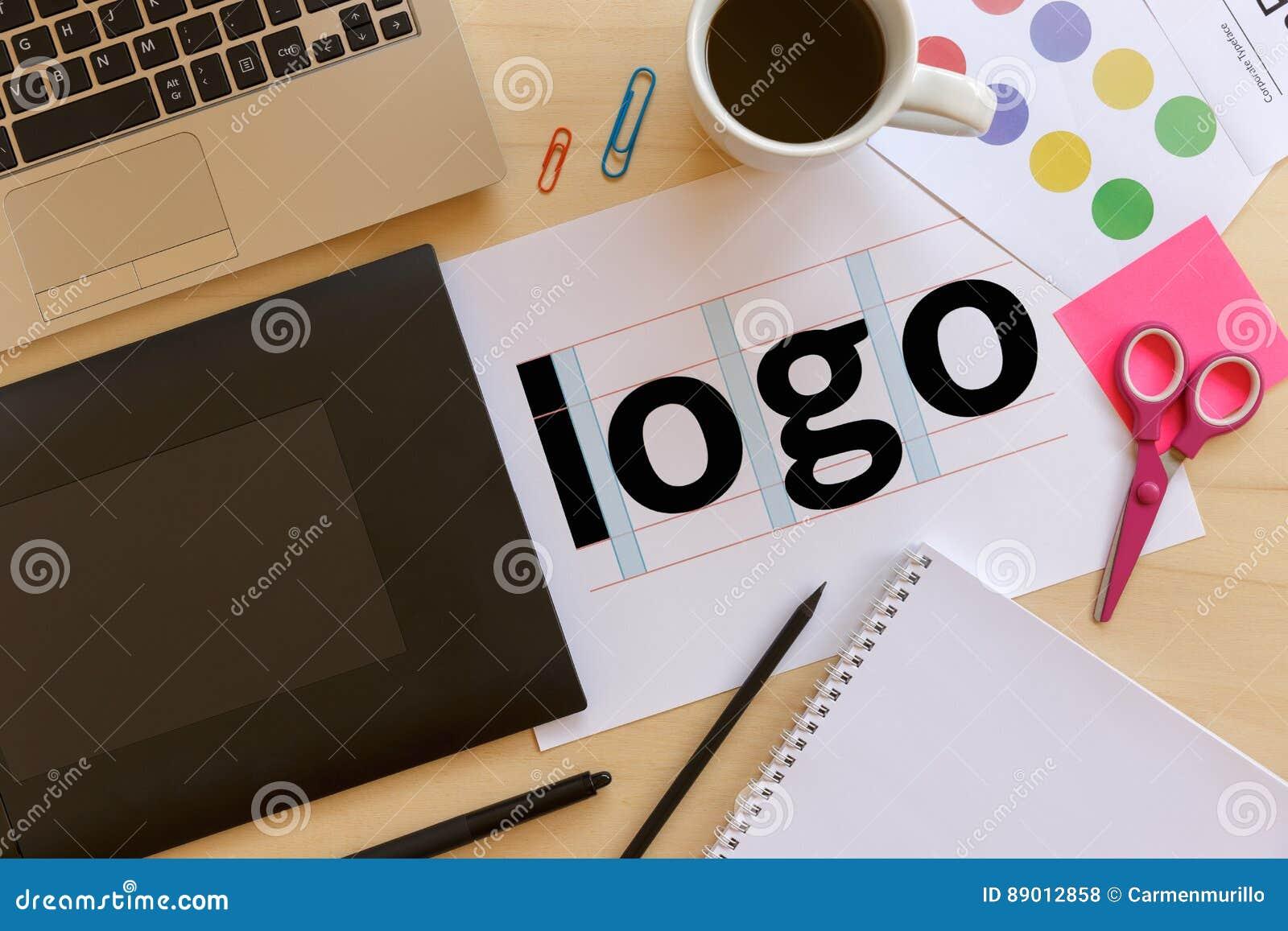 Creative graphic designer desk