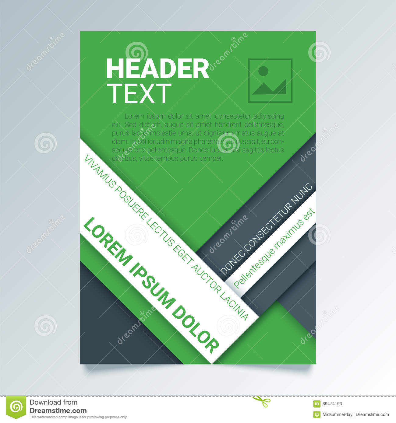 Creative green flyer vector template in a4 size modern for Green plans