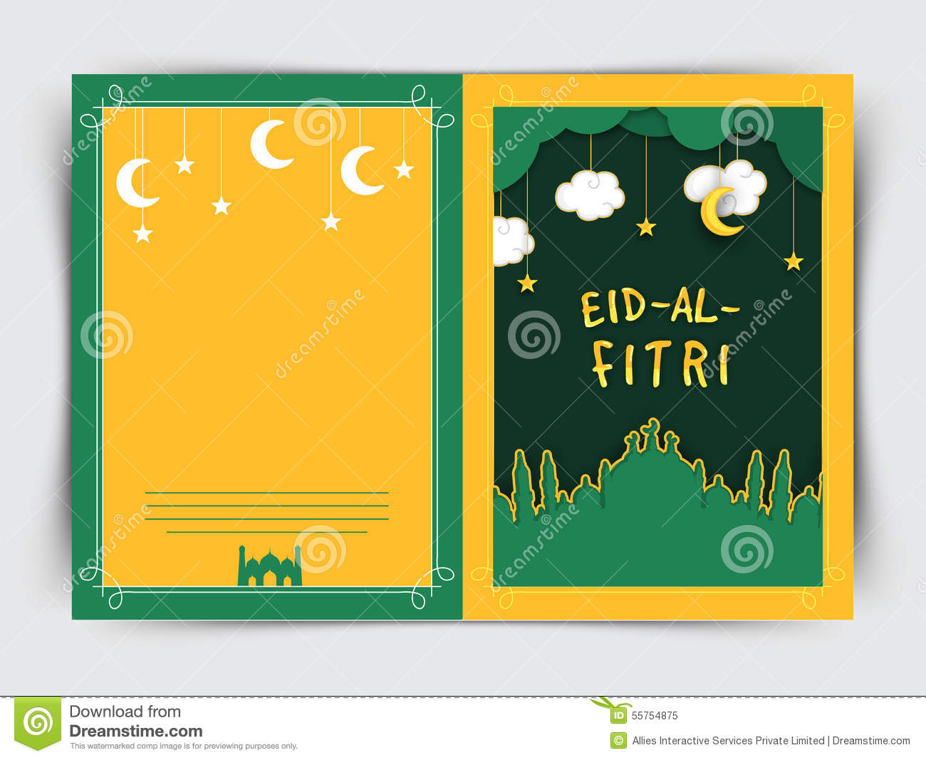 Creative greeting card with mosque for eid stock illustration creative greeting card with mosque for eid m4hsunfo