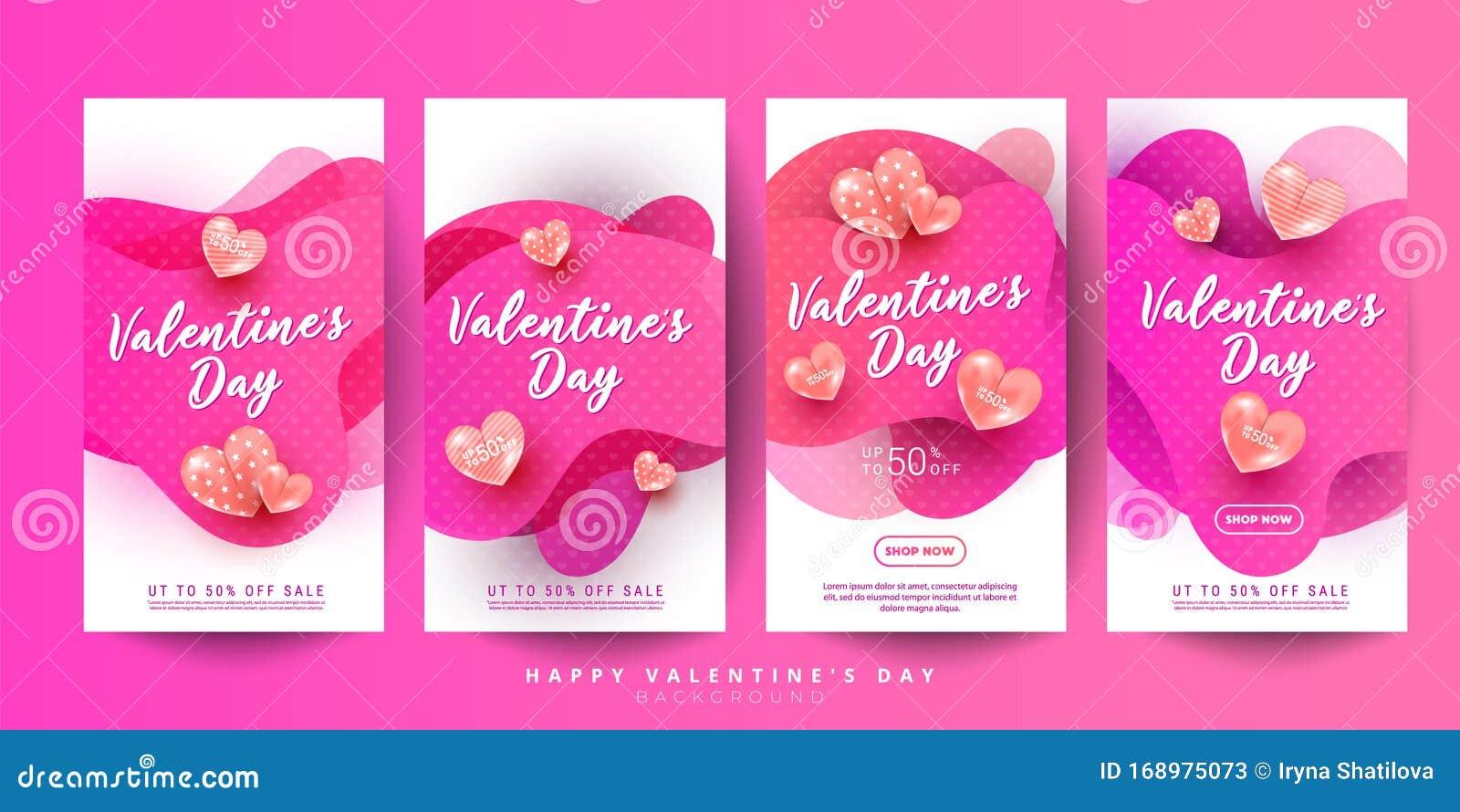 creative greeting cards set of liquid fluid heart shapes