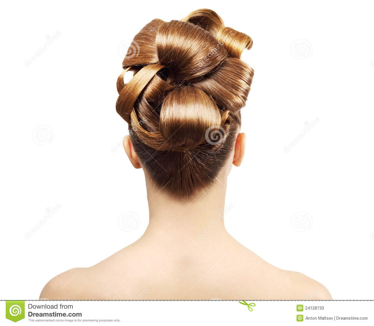 hairstyles from behind creative hairstyle from behind stock photos image 24128733